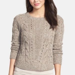 Chunky Cable Knit Crewneck Sweater